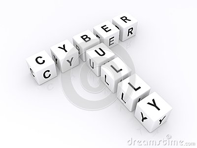 White Cubes Spell Cyber Bully