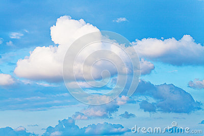 White cumulus cloud