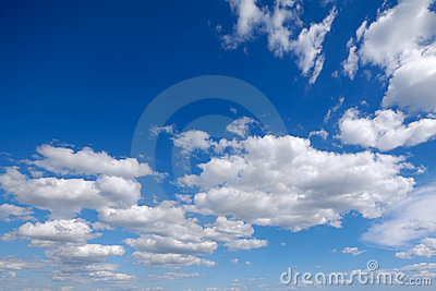 White cumulus clouds