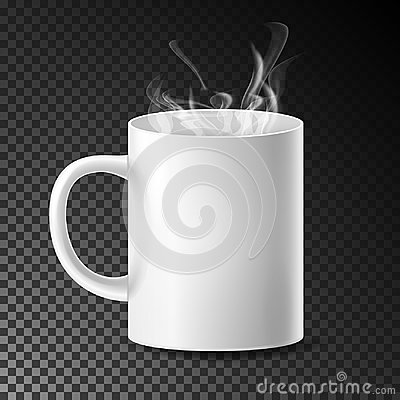 Free White Cup, Mug Vector. Realistic Ceramic Or Plastic Cup  On Transparent Background. Empty Classic Cafe Cup With Royalty Free Stock Photography - 98187607