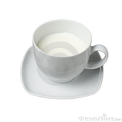 Free White Cup Of Milk Royalty Free Stock Images - 23337789