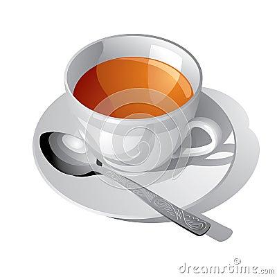 Free White Cup Of Tea Royalty Free Stock Photos - 5136858
