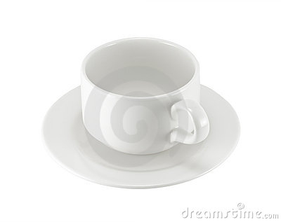 White Cup On Saucer Stock Photography - Image: 19539172