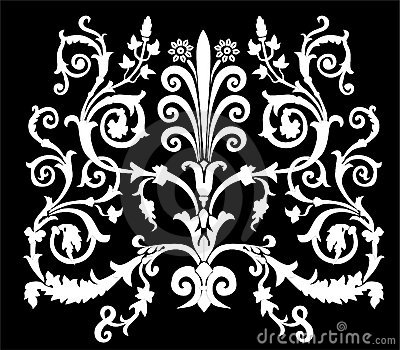 White curled symmetric ornament