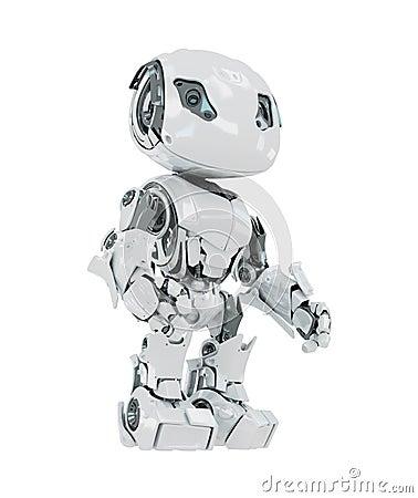 White cyborg