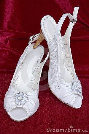 White decorated shoes