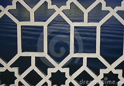 White Decorative Metal Grille