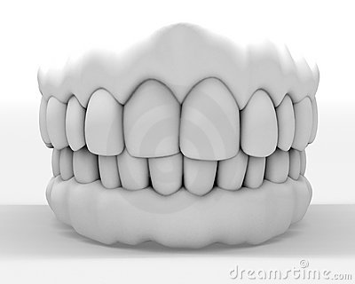 White denture