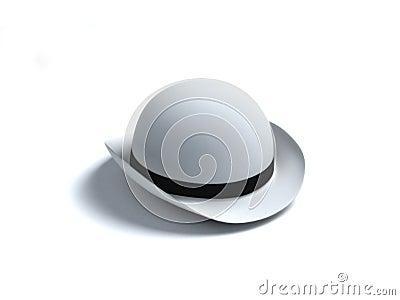 White derby hat