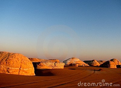 White Desert In Egypt Stock Photos