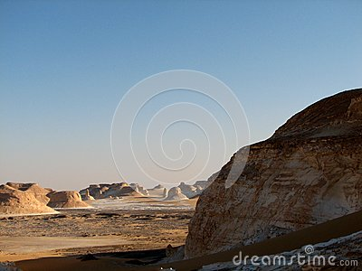 White Desert In Egypt Royalty Free Stock Image