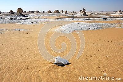 The White desert landscape