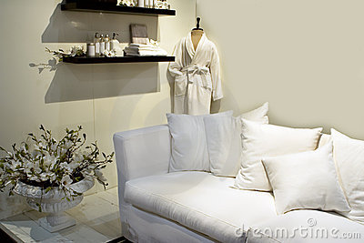 White design for spa interior