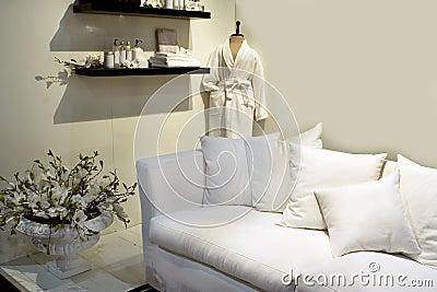 White design for spa interior