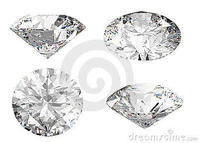 White diamond in different angles