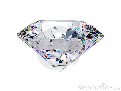 White diamond side view