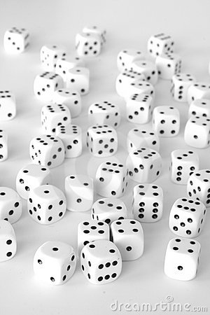 Free White Dice Landscape Stock Images - 7999844