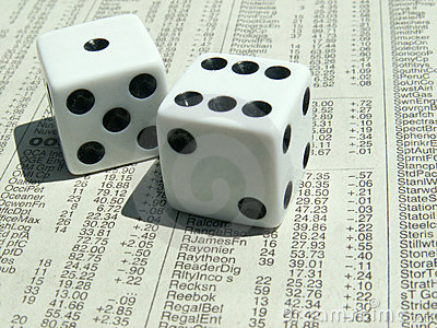 White dice on stock report