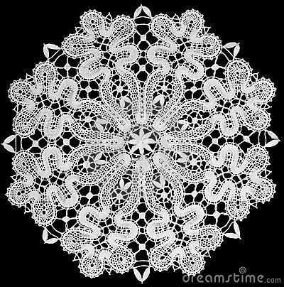 Free White Doily With Lace Stock Images - 16361414