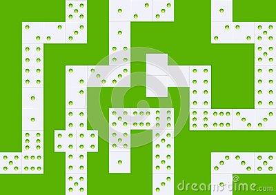 White domino seamless background