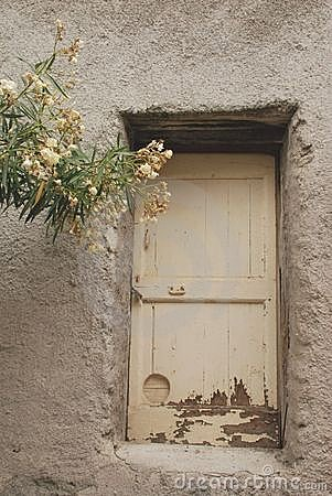 White Door With Tree