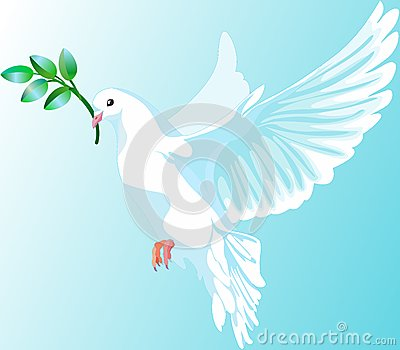 The white dove of peace