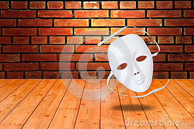 White drama masks