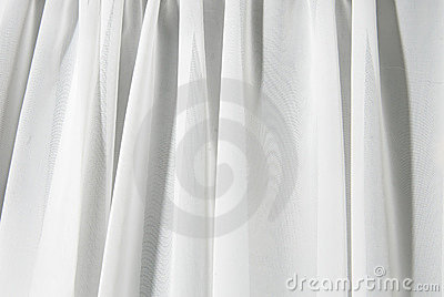 White drape background