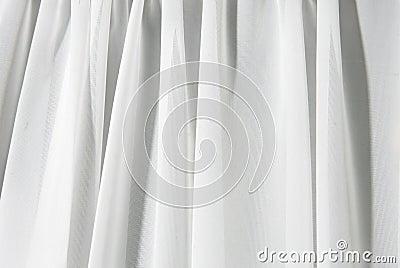 White drape background