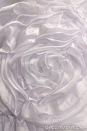 White drapery.