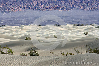 White dunes in Death Valley NP