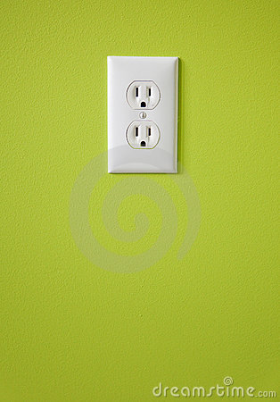Free White Electric Outlet Stock Photography - 8451322
