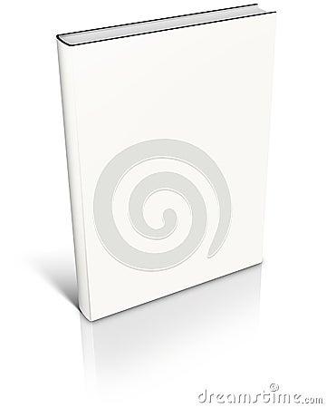 White empty book template
