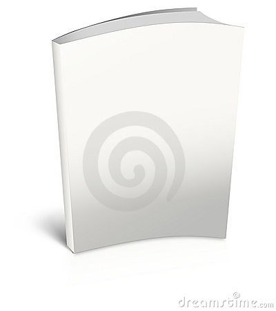 White empty book template