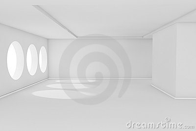 White empty room