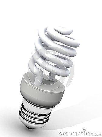 Free White Energy Saver Light Bulb Stock Image - 1867491