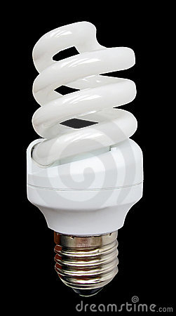 white energy saving light glass bulb, low power