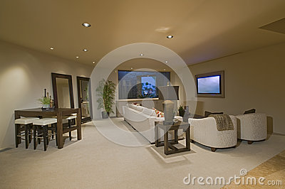 White Entertainment Suite At Home