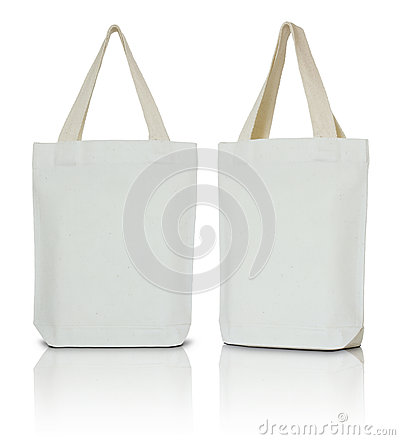 Free White Fabric Bag Royalty Free Stock Photography - 56661997