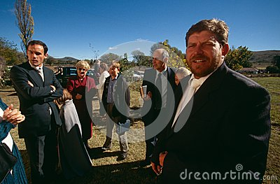 White families outside a church in South Africa. Editorial Stock Image