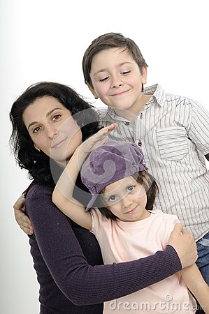 White family expressing love