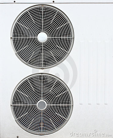 White fan of air conditioners