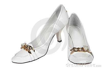 White Female Shoes Stock Photos - Image: 2756603