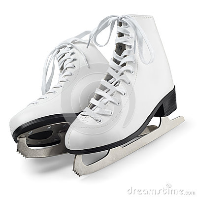 Free White Figure Skates Stock Photos - 42685243