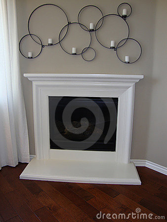 White Fireplace