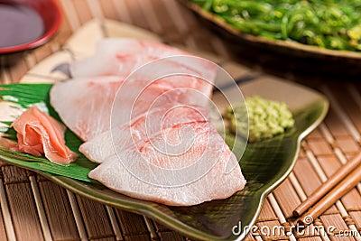 White Fish Sashimi Stock Photo