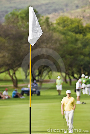 White Flag on Golf Course