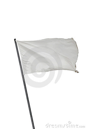 Free White Flag Isolated Royalty Free Stock Image - 15992766