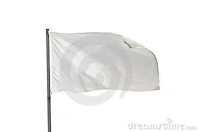 White flag isolated horizontal