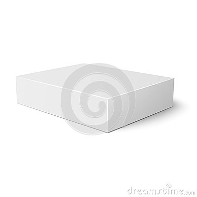 closed paper box lying isolated white background - stock photo